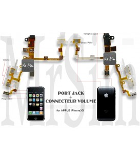 Module du Haut , Volume, Haut Parleur, prise Jack - « iPhone 3Gs »