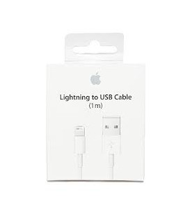 CABLE LIGHTNING USB BLANC 1m D'ORIGINE APPLE EN BOITE BLISTER POUR IPHONE