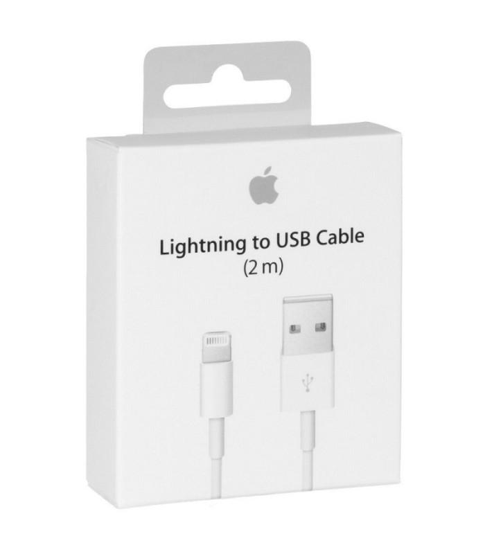 CABLE LIGHTNING USB BLANC 2M D'ORIGINE APPLE