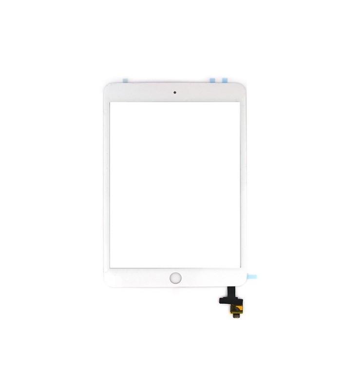 Vitre tactile d'origine avec connecteurs pour iPad Mini 3 en blanc